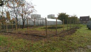 La ferme des Possibles - Vue du terrain avec la future basse cour et serres