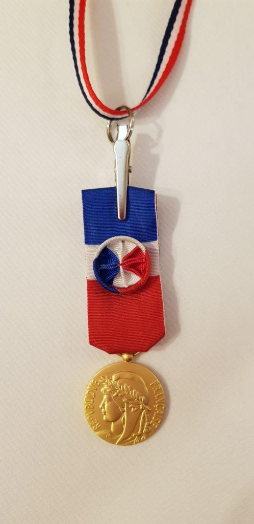 Remise de médaille